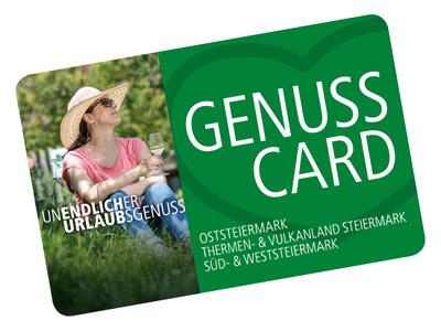 GenussCard als kostenlose Eintrittskarte